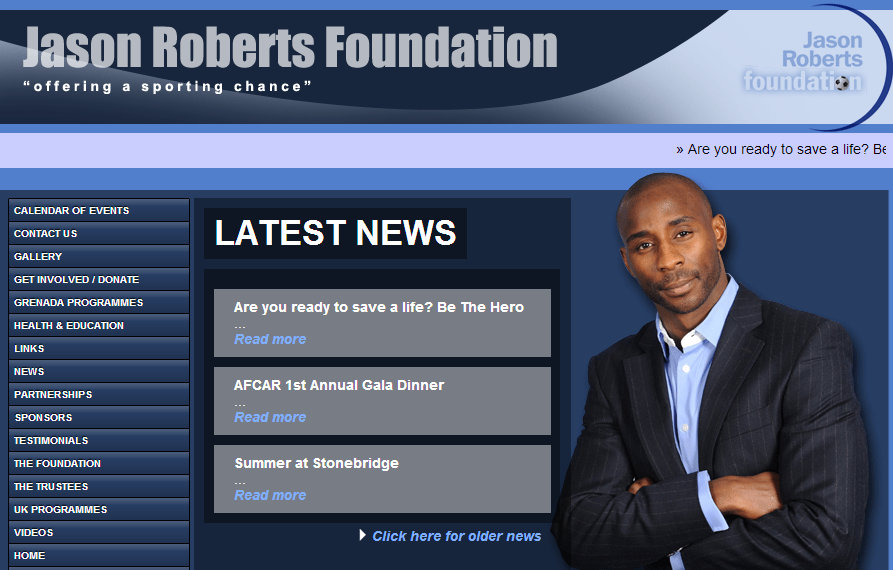 Official site of the Jason Roberts Foundation  Welcome to Jason Site - Google Chrome 17.10.2013 191019